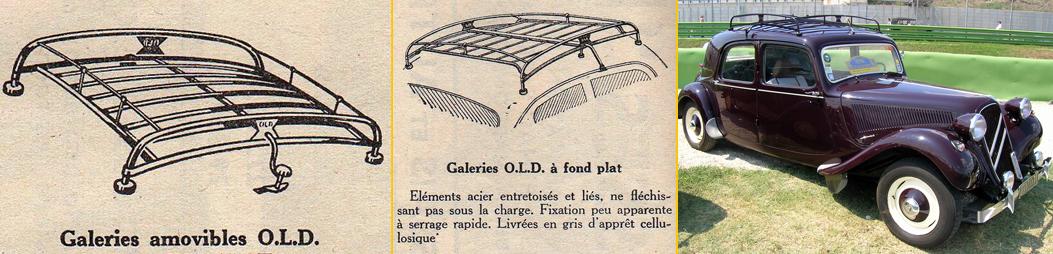 les galeries de toit et porte bagages arri re la traction de provence. Black Bedroom Furniture Sets. Home Design Ideas